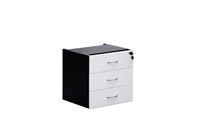 ASCOT FIXED PEDESTAL 3 DRAWERS OMFP3 W464D400H450