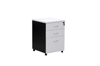 ASCOT MOBILE PEDESTAL 2 DRAWER  1 FILE DRAW OMM3 W468D510H685