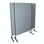 SS FREESTANDING ACOUSTIC SCREEN 1200H X 1800W  WITH 180MM AIR GAP IN HOUSE FABRIC RANGE