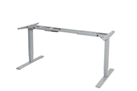 VERTILIFT ELECTRIC HEIGHT ADJUSTABLE DESK FRAME ONLY SUITS UP TO 1800 X 900 TOPS  in silver HEAVY DUTY WITH CONTROLLER