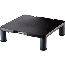 FELLOWES MONITOR STAND STANDARD HEIGHT ADJUSTABLE 27KG CAPACITY W339 X DL346 X H47MM BLACK/GREY